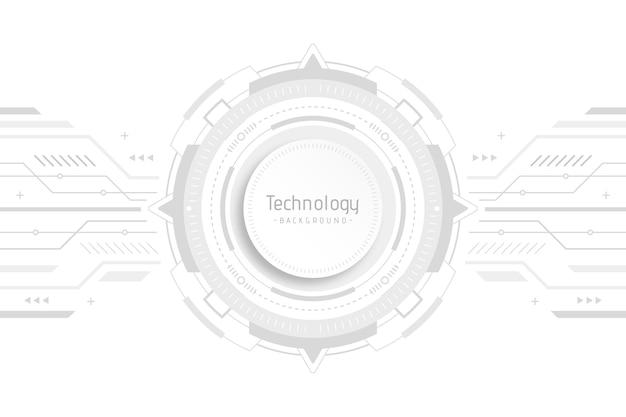 Design de tecnologia branco para papel de parede Vetor grátis