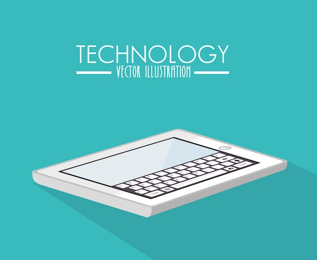 Design de tecnologia, ilustração vetorial. Vetor Premium
