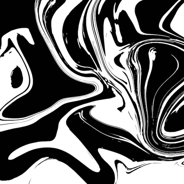 Design de textura de mármore líquido, superfície de mármore colorido, preto e branco, design de pintura abstrata vibrante Vetor Premium