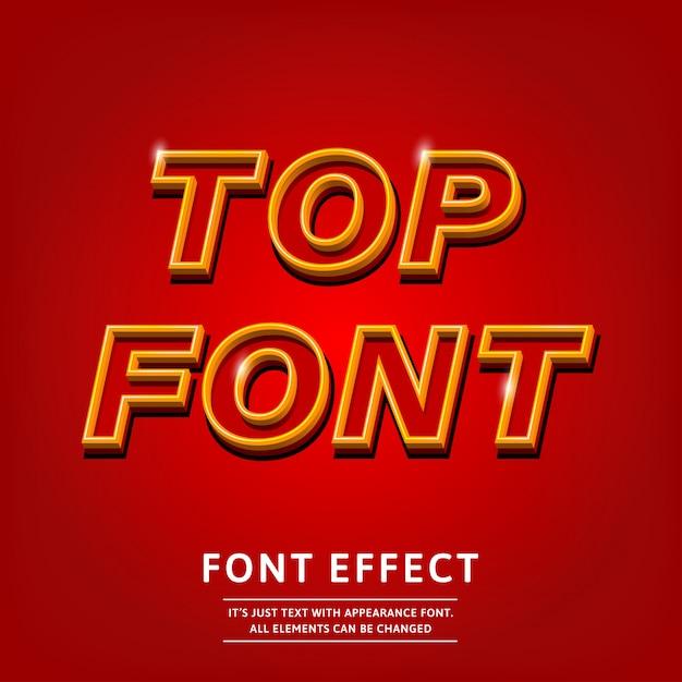 abf94805c Design de tipo de letra de contorno vermelho 3d bold (realce) para design de