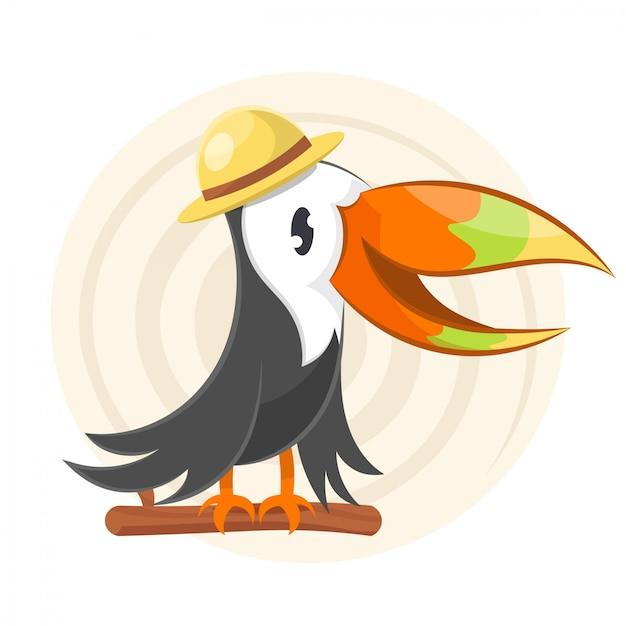 Design de tucano colorido Vetor Premium