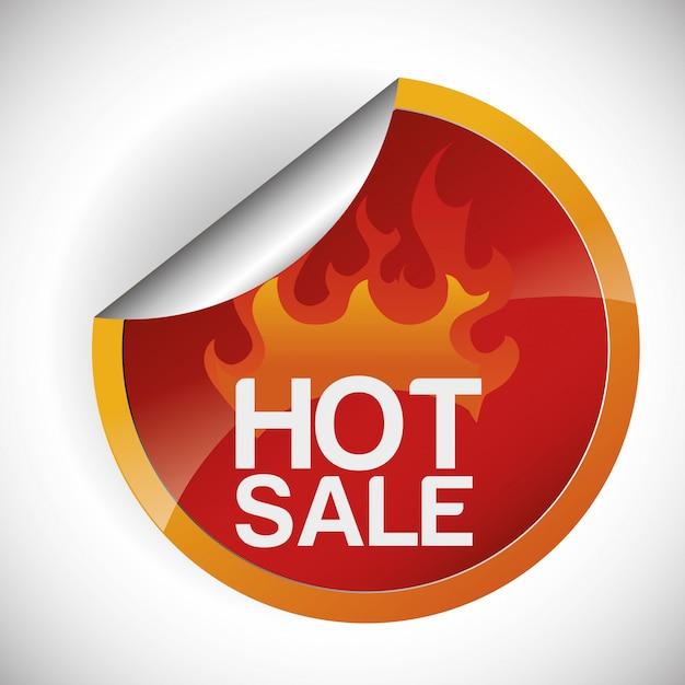 Design de venda quente Vetor Premium