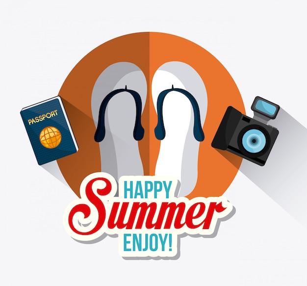 Design de verão Vetor grátis