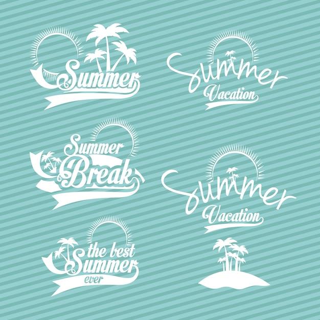 Design de verão Vetor Premium