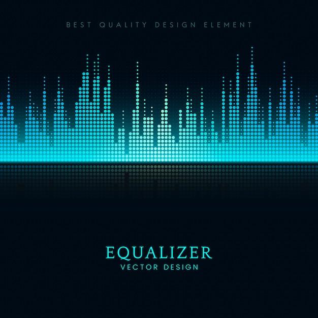 Design de vetor de equalizador de onda sonora Vetor grátis