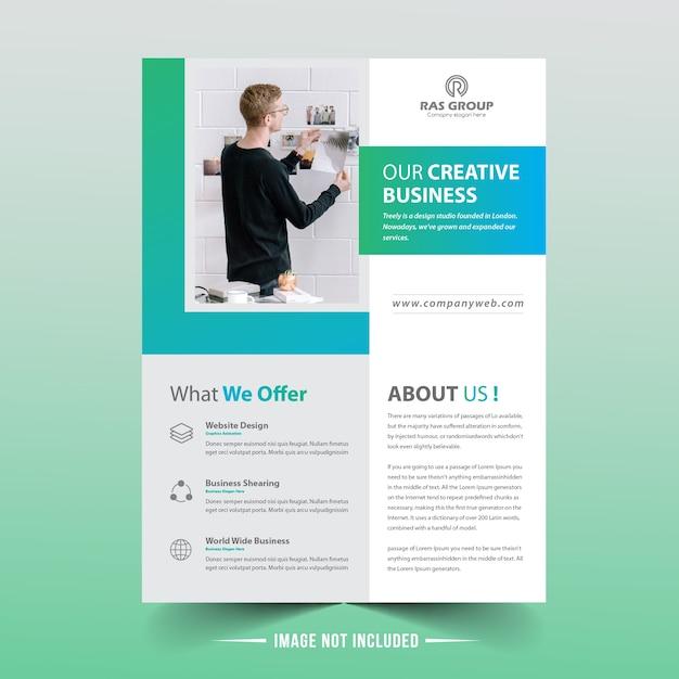 Design de vetor de panfleto de negócios Vetor Premium