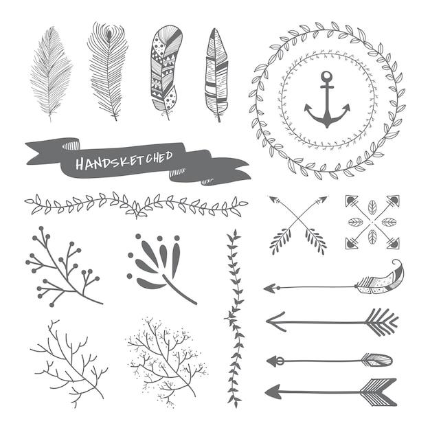 Design de viagem desenhada de mão Vetor grátis