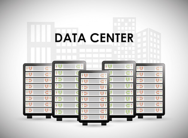 Design digital de banco de dados. Vetor Premium