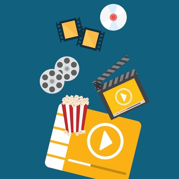 Design digital do filme Vetor Premium