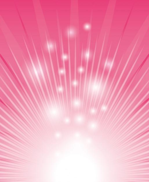 Design digital rosa. Vetor Premium