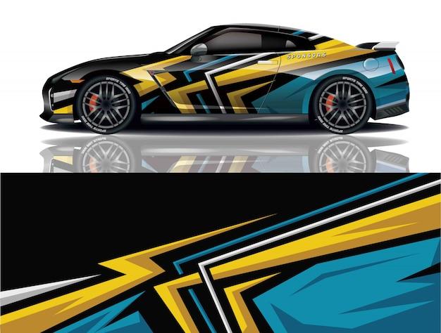 Design do envoltório do decalque do carro Vetor Premium