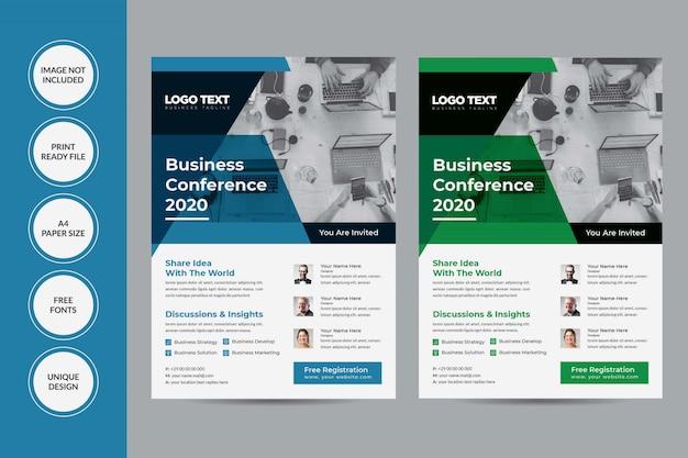 Design do folheto da conferência Vetor Premium