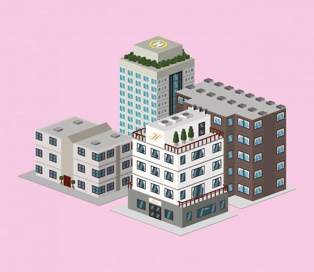 Design do hotel Vetor Premium