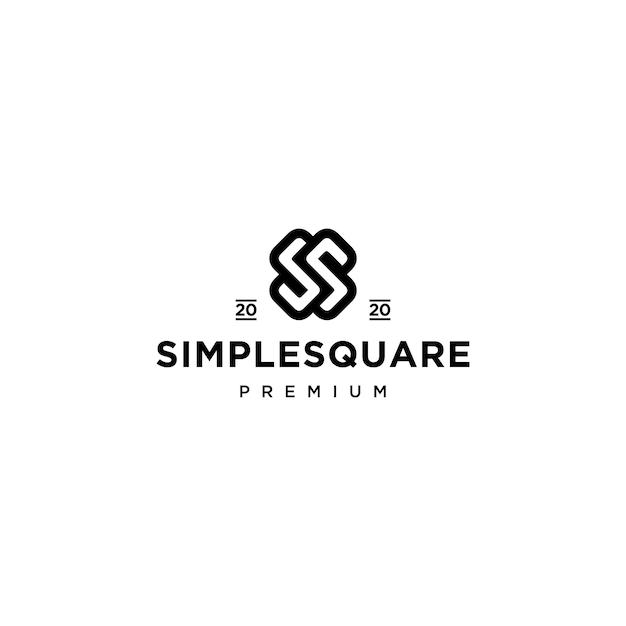 Design do ícone do logotipo da letra ss Vetor Premium