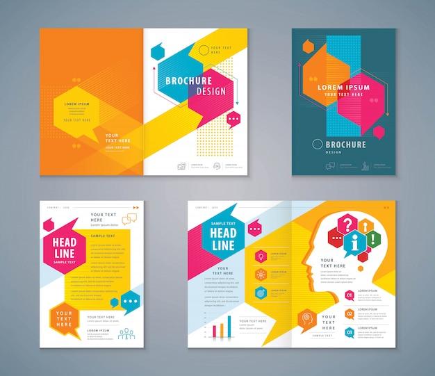 Design do livro de capa Vetor Premium
