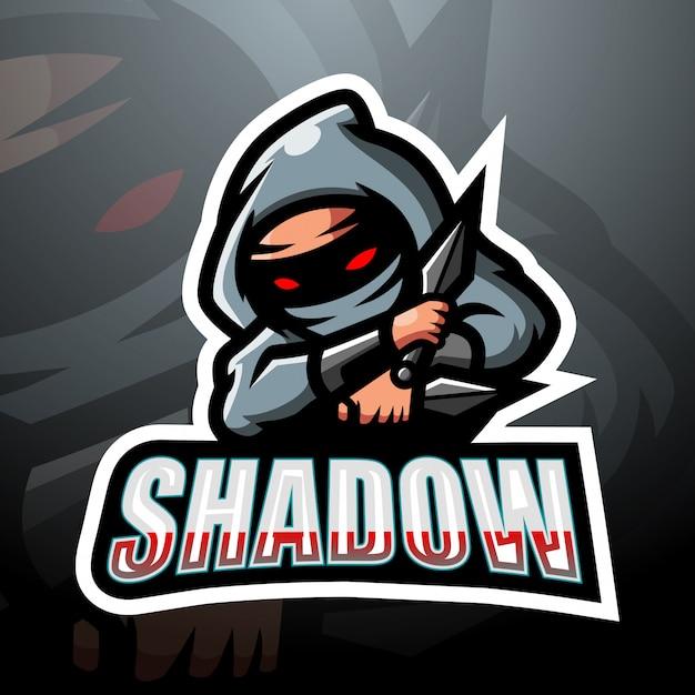 Design do logotipo do shadow mascot esport Vetor Premium