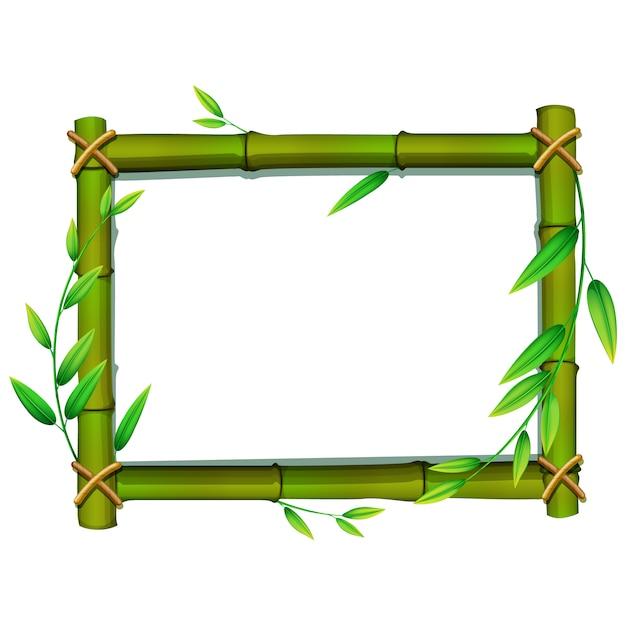 Design do quadro de bambu Vetor grátis