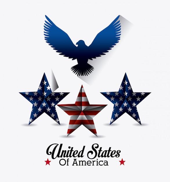 Design dos estados unidos da américa. Vetor grátis
