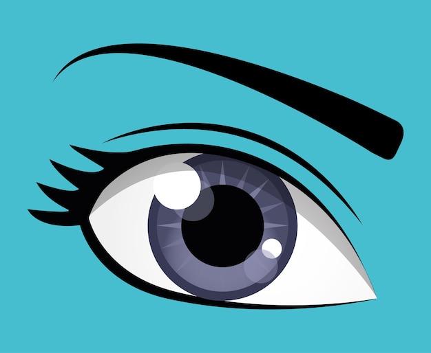 Design dos olhos. Vetor Premium