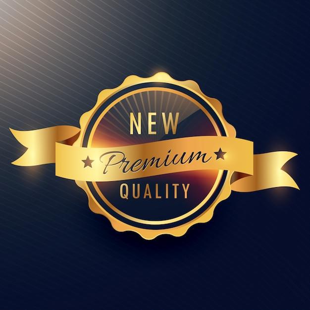 Design dourado do vetor da etiqueta da qualidade superior Vetor grátis
