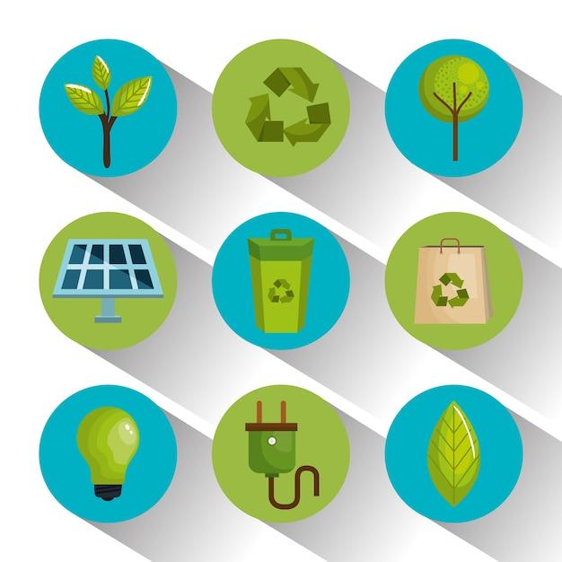Design ecológico Vetor Premium