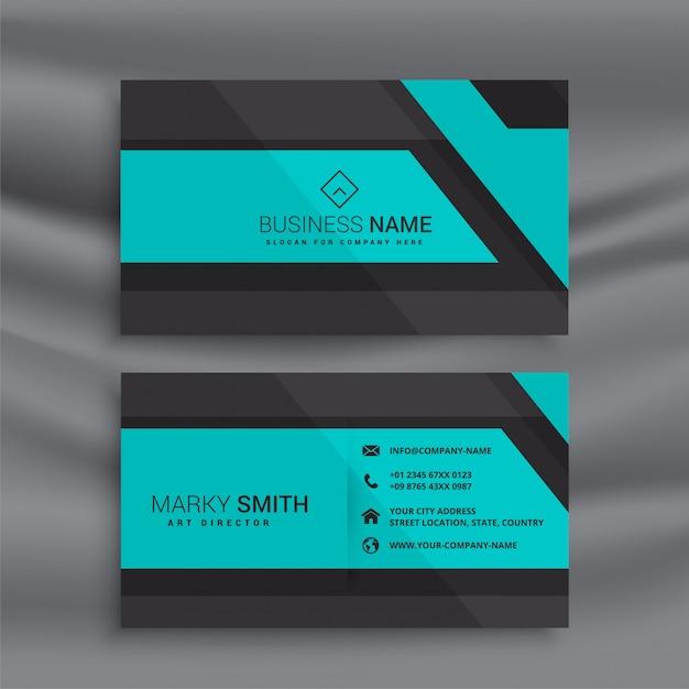 Design elegante cartão azul Vetor grátis