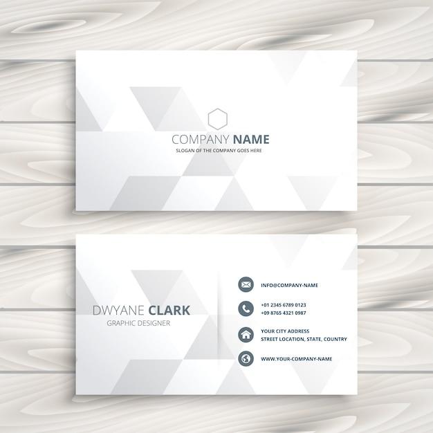 Design elegante cartão branco Vetor grátis