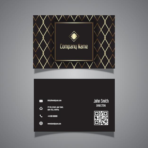 Design elegante cartão de visita com detalhes dourados Vetor grátis