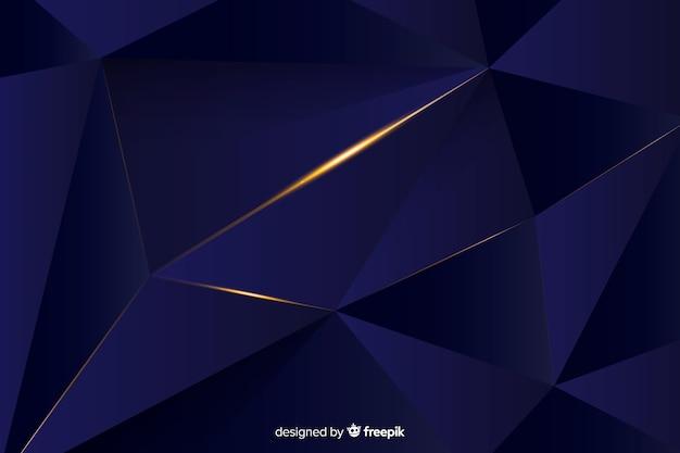 Design elegante de fundo escuro poligonal Vetor grátis