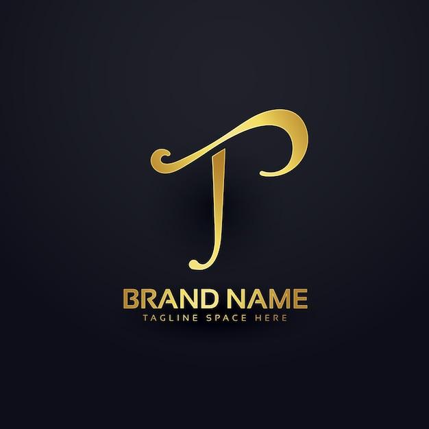 Design elegante do logotipo da letra t com efeito de redemoinho Vetor grátis