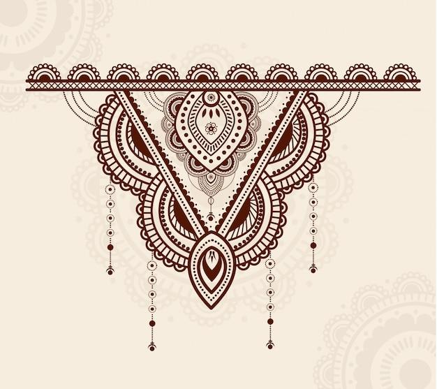 Design elegante e colorido ornamento de mandala de luxo Vetor Premium