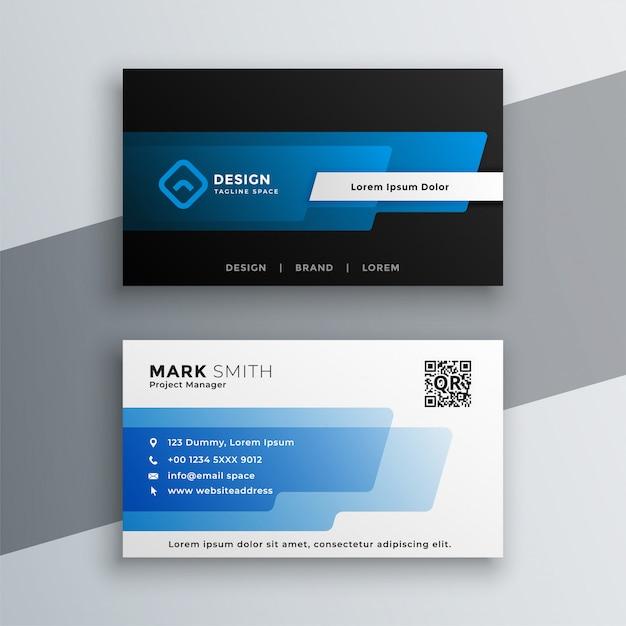 Design elegante modelo de cartão azul Vetor grátis