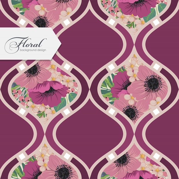 Design floral padrão sem emenda Vetor grátis