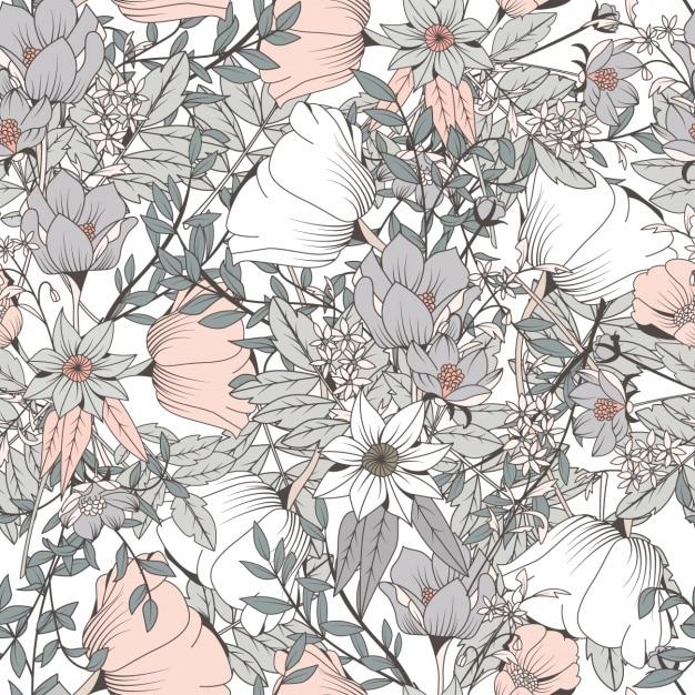 Design floral padrão Vetor Premium