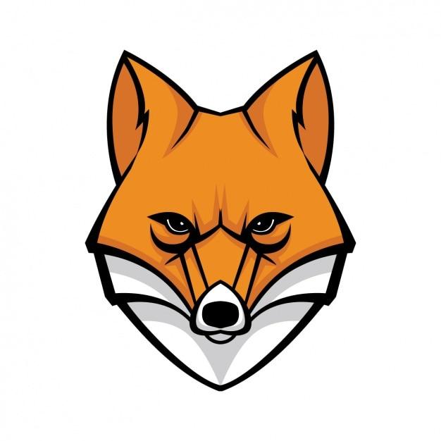 Design fox pintados à mão Vetor grátis