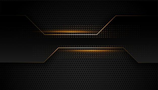 Design geométrico premium preto e dourado Vetor grátis