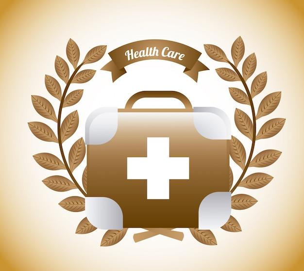 Design gráfico de cuidados de saúde Vetor grátis