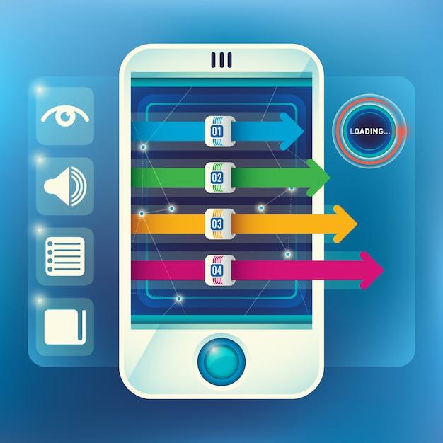 Design gráfico de fundo de informação Vetor Premium