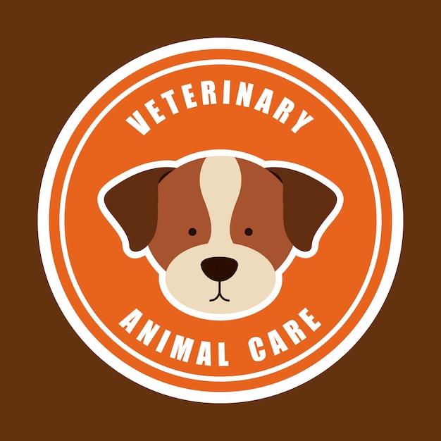 Design gráfico de logotipo de cuidados com animais veterinários Vetor grátis