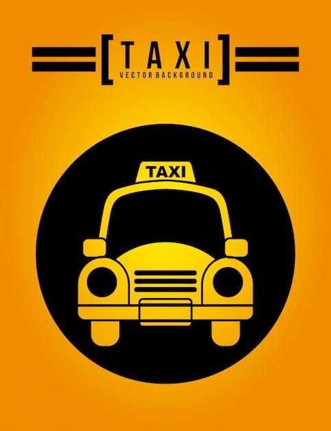 Design gráfico de táxi Vetor grátis