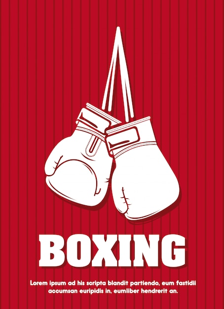 Design gráfico do modelo de cartaz de boxe Vetor grátis