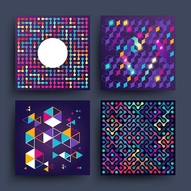 Design gráfico vetorial 2d minimalista para capas Vetor Premium