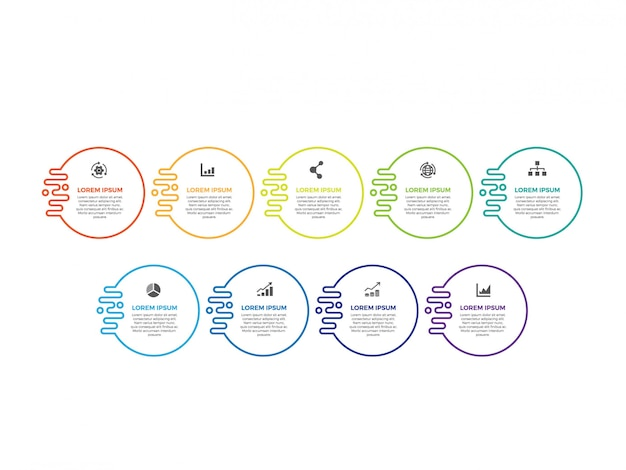 Design infográfico minimalista de linha fina Vetor Premium
