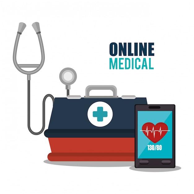 Design médico online Vetor grátis