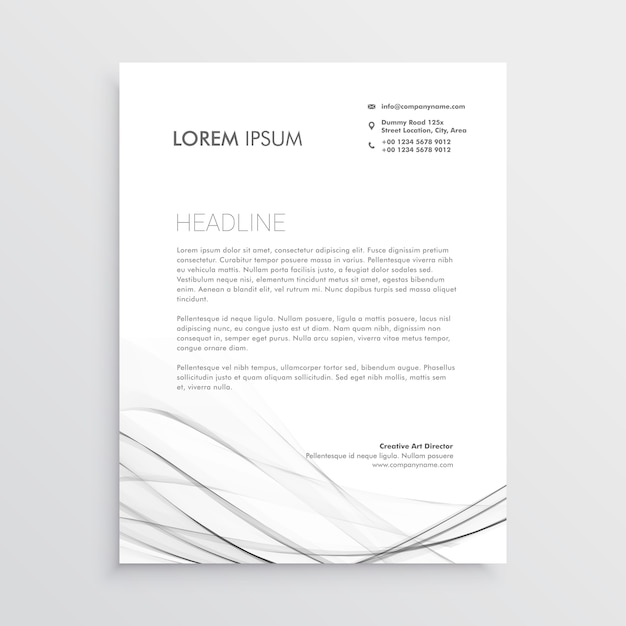 Design minimalista de cabe alho com forma ondulada cinza for Design minimalista