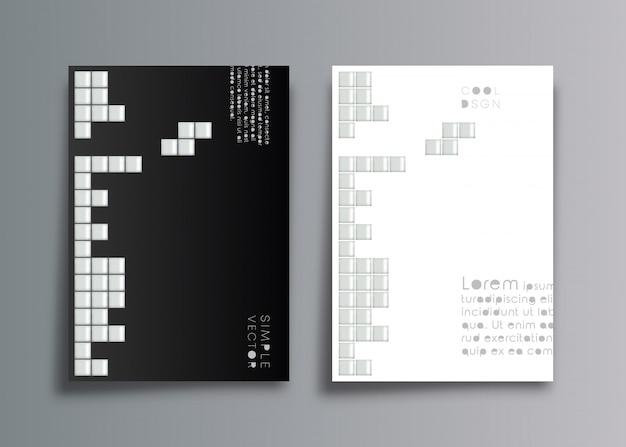 Design minimalista de fundo de capa Vetor Premium
