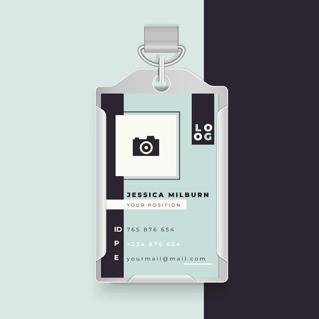 Design minimalista do cartão de identificação comercial Vetor grátis