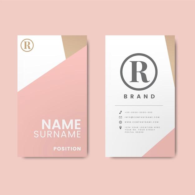 Design minimalista moderno cartão de visita com elementos geométricos Vetor grátis