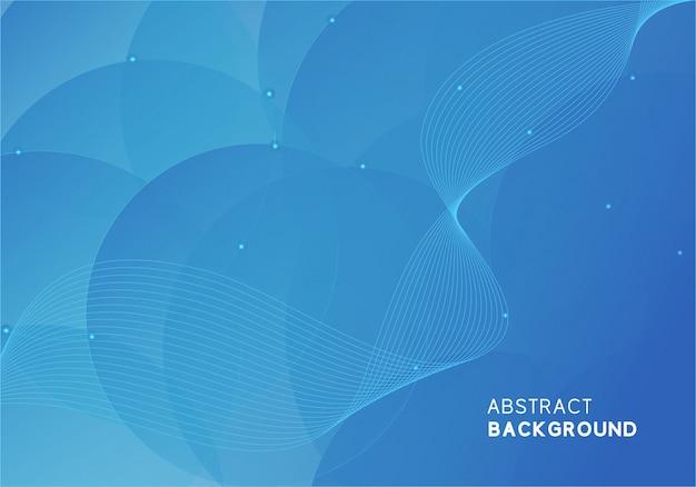 Design moderno abstrato azul Vetor Premium