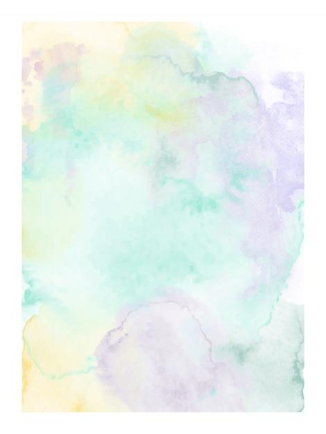 Design moderno abstrato com aquarela pintada à mão de mancha de respingos em fundo branco. vetor artístico Vetor Premium